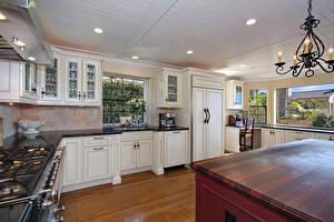 Photo Interior Design Kitchen Chandelier