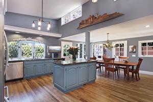 Picture Interior Design Kitchen Table Chairs Chandelier