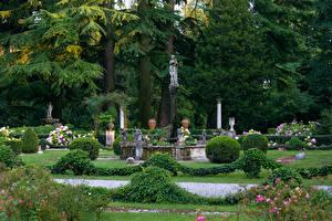 Fotos Italien Park Skulpturen Design Strauch Bäume Parco Romagna