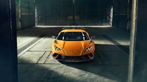 Photo Lamborghini Yellow 2018 Performante Novitec Huracan auto