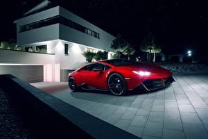 Bilder Lamborghini Rot Novitec Torado Huracan
