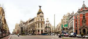 Fotos Madrid Spanien Haus Stadtstraße