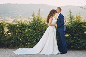 Hintergrundbilder Mann Liebe 2 Heirat Brautpaar Kleid Braune Haare Bräutigam Mädchens