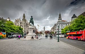 Pictures Monuments Portugal Porto Street Cities