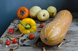 Pictures Pumpkin Bell pepper Pears Apples Persimmon Tomatoes