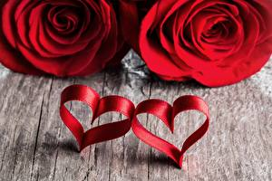Wallpapers Roses Heart 2 Red Flowers