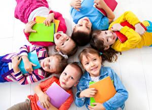 Wallpaper School Boys Little girls Smile Notebooks Children
