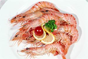 Images Seafoods Shrimp Lemons