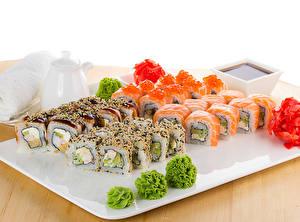 Hintergrundbilder Meeresfrüchte Sushi Lebensmittel
