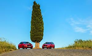 Photo Skoda 2 Red Metallic 2017 Octavia Cars