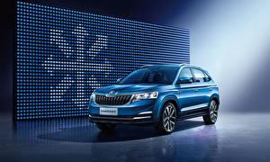 Wallpaper Skoda Light Blue Metallic 2018 Kamiq China auto