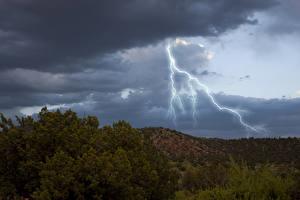 Hintergrundbilder Himmel Wälder Blitz Wolke