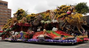 Fotos Vereinigte Staaten Leopard Tiger Papageien Kalifornien Design Pasadena Natur