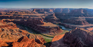 Bilder Vereinigte Staaten Park Gebirge Flusse Canyon Dead Horse Point State Park Utah Natur