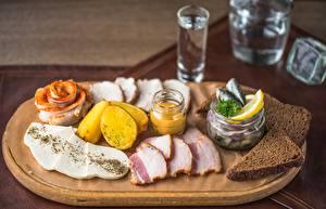 Picture Vodka Bread Salo - Food Sliced food