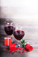 Pictures Wine Rose Stemware 2 Gifts Heart Red Food