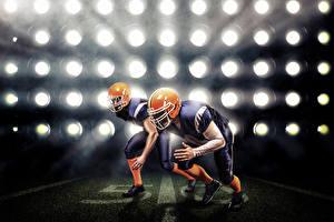 Hintergrundbilder American Football Zwei Uniform Helm