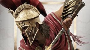 Hintergrundbilder Assassin's Creed Krieger Assassin's Creed Odyssey Helm Alexios Spiele