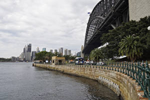 Fotos Australien Haus Brücken Sydney Zaun