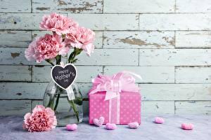 Fotos Nelken Geschenke Vase mother's day