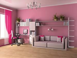 Photo Children's room Interior Room Sofa 3D Graphics