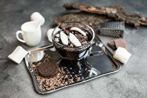 Picture Coffee Cookies Chocolate Marshmallow