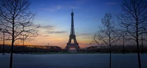 Fotos Frankreich Abend Eiffelturm Paris