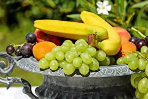 Pictures Fruit Bananas Grapes