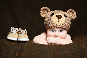Image Baby Staring Winter hat Boots child