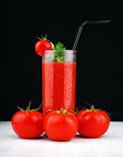 Bilder Fruchtsaft Tomate Trinkglas das Essen