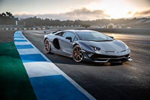 Photo Lamborghini Gray 2018 Aventador SVJ Worldwide