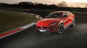 Wallpaper Lamborghini Red 2018 Urus Shiny Black Package auto