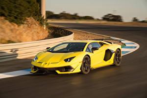 Wallpapers Lamborghini Yellow 2019 Aventador SVJ auto