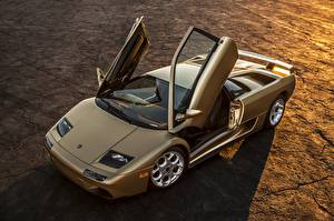 Bilder Lamborghini Offene Tür Diablo automobil