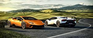 Images Lamborghini 2 Huracan Cars 3D_Graphics