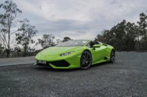 Picture Lamborghini Yellow green Metallic