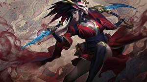 Picture League of Legends Warriors Splash, Akali, Blood Moon Girls