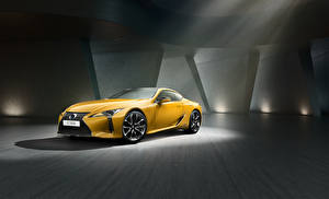 Pictures Lexus Yellow Metallic 2018 LC 500h  Yellow Edition Cars