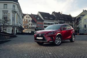 Hintergrundbilder Lexus Bordeauxrot Metallisch 2018 NX 200 CIS-spec Autos
