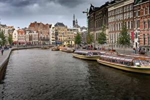 Pictures Berth Riverboat Netherlands Amsterdam Canal Cities