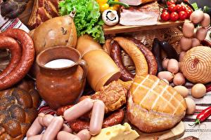 Bilder Fleischwaren Wurst Wiener Würstchen Schinken Gemüse Kanne