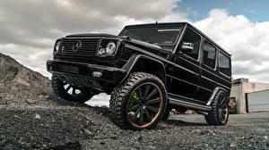 Pictures Mercedes-Benz G-Wagen Black G63 Cars