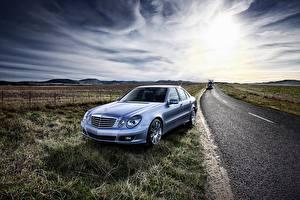Wallpaper Mercedes-Benz Roads E-Class W211
