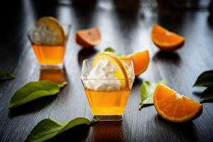 Fotos Apfelsine Cocktail Die Sahne Dubbeglas das Essen