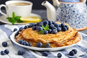 Pictures Hotcake Blueberries