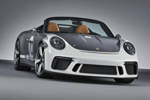 Photo Porsche Convertible Front 2018 911 Speedster Concept