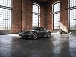 Fonds d'écran Porsche Gris Roadster 4x4 Biturbo 911 Targa 4 GTS Exclusive Manufaktur Edition