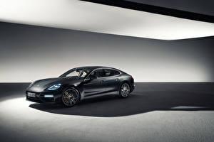 Wallpaper Porsche Black Panamera auto