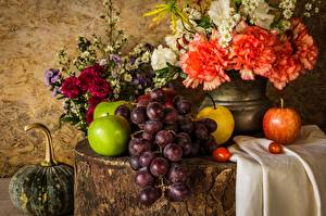 Wallpapers Still-life Grapes Fruit Food