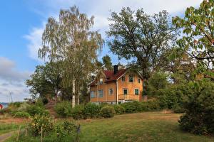 Image Sweden Houses Mansion Design Trees Shrubs Saltsjobaden Cities